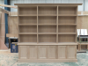 Oak Bookcase assembled in joinery prior to installation at customers house