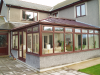Large conservatory infill to detached property with internal alterations.